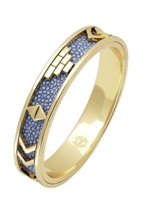 blue and gold bangle