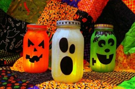Resultado de imagem para potes de maionese de halloween